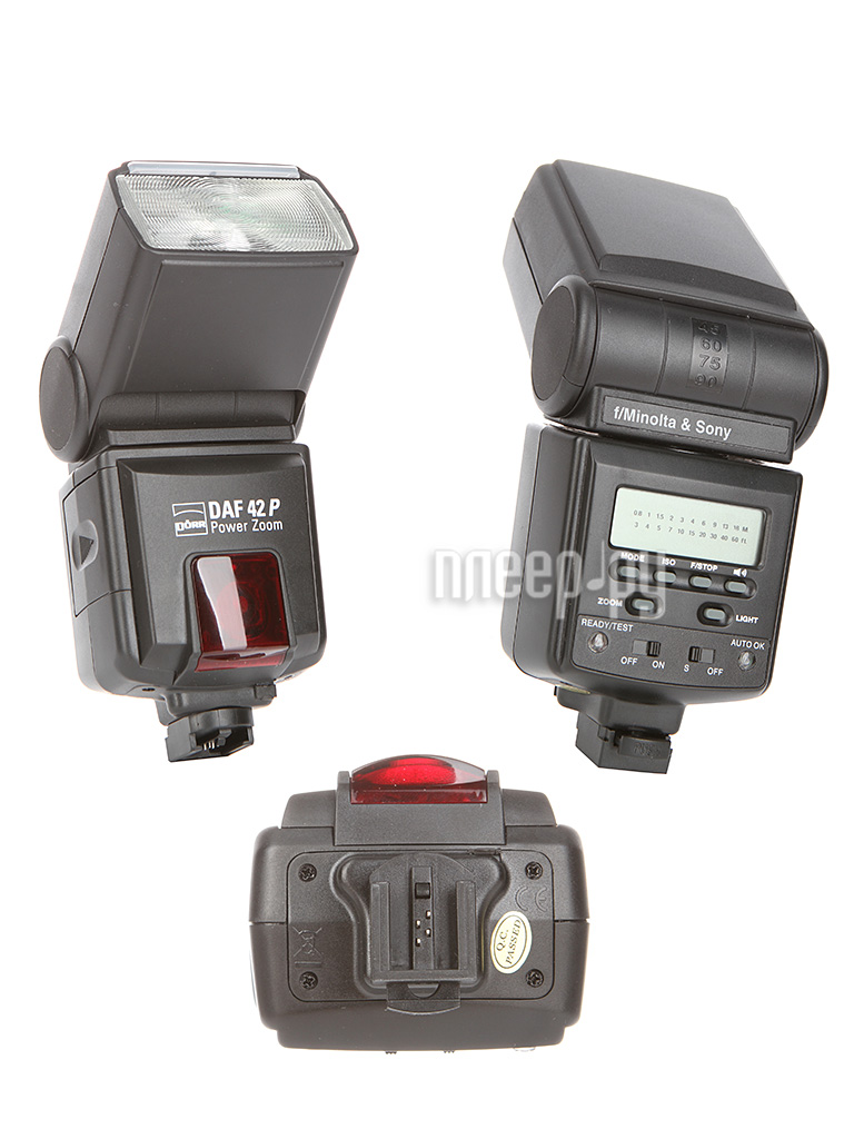 Вспышка Doerr D-AF-42 P Power Zoom Flash Sony / Minolta (D371005/371103)  Pleer.ru  5096.000