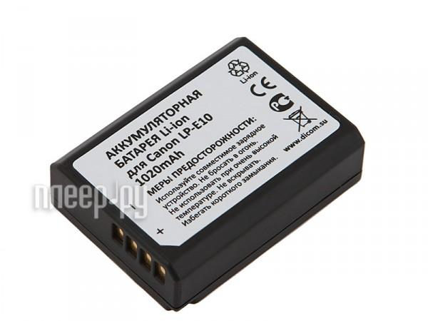Аккумулятор Dicom DC-E10  Pleer.ru  1005.000
