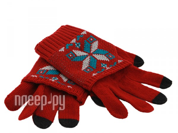Теплые перчатки для сенсорных дисплеев Harsika J101-42.3 Red