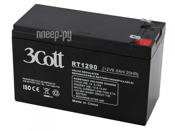 Аккумулятор 3Cott 12V 9Ah  Pleer.ru  670.000