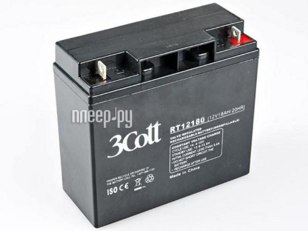 Аккумулятор 3Cott 12V 18Ah  Pleer.ru  1061.000