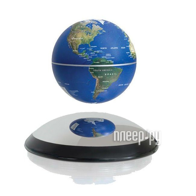 Глобус Globusoff магнитный летающий d=15 Blue, арт. 0379  Pleer.ru  4429.000