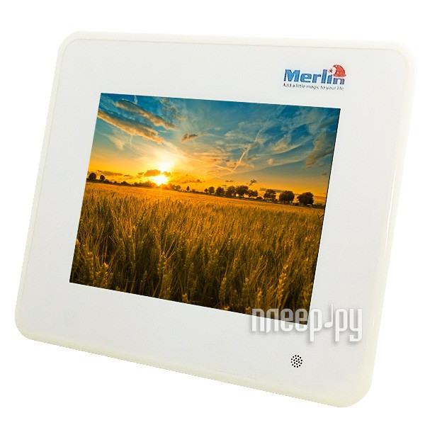 Цифровая фоторамка Merlin 8 Digital Photo Frame White  Pleer.ru  2931.000