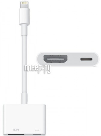 Аксессуар APPLE Lightning to Digital AV Adapter MD826  Pleer.ru  1816.000
