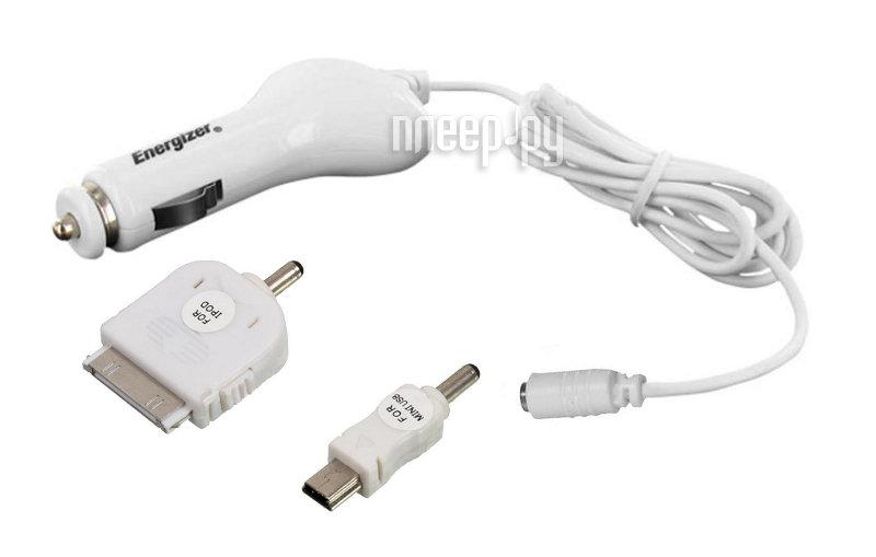 Зарядное устройство Energizer LCHECCCMAMP2 MiniUSB/iPhone/iPod автомобильное