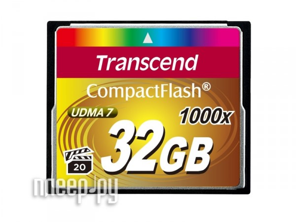 Карта памяти 32Gb - Transcend 1000x - Compact Flash TS32GCF1000