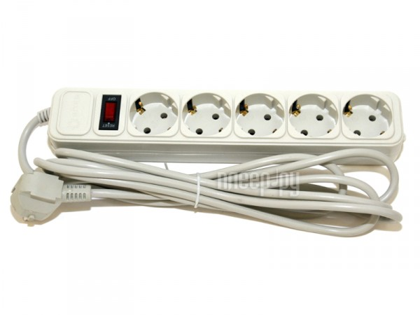 Сетевой фильтр 5bites SP5-W-50 5 Sockets 5m White  Pleer.ru  161.000