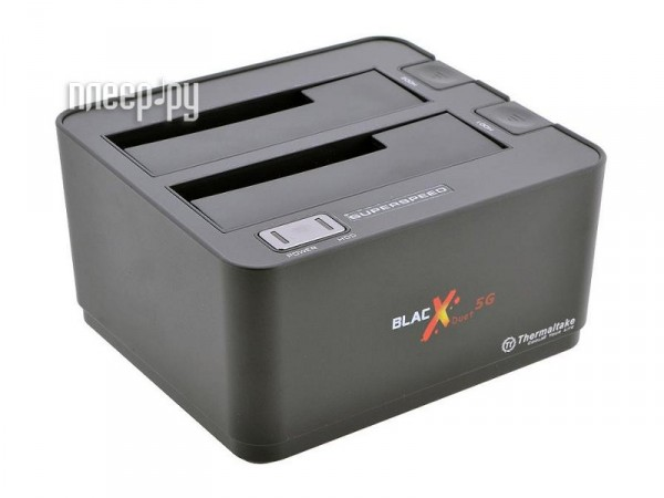 Аксессуар Thermaltake BlacX Duet 5G Dual Bay Docking ST0022E  Pleer.ru  2349.000