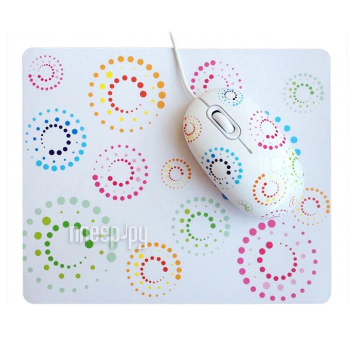 Мышь CBR Rainbow мышь сувенирная + коврик