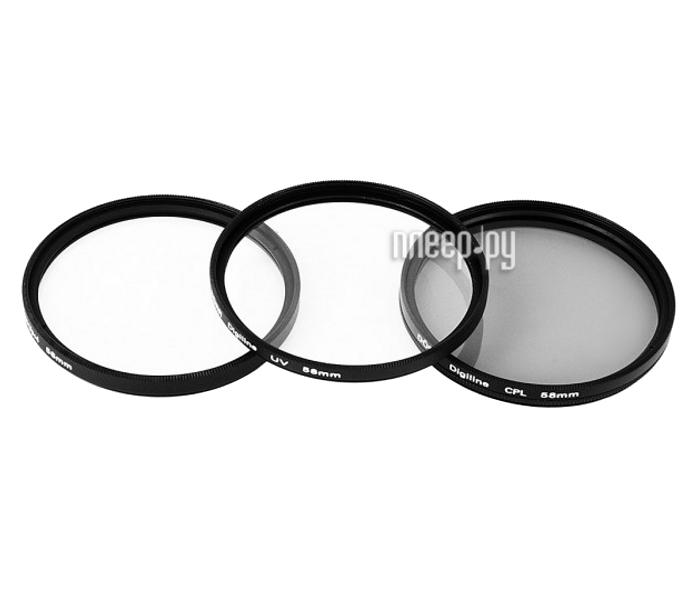 Светофильтр Doerr Digi Line Filter Kit UV/CPL/Close UP +4 52mm D378052