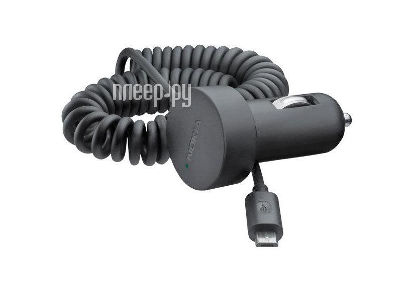 Аксессуар Зарядное устройство автомобильное micro-USB Nokia DC-17  Pleer.ru  245.000