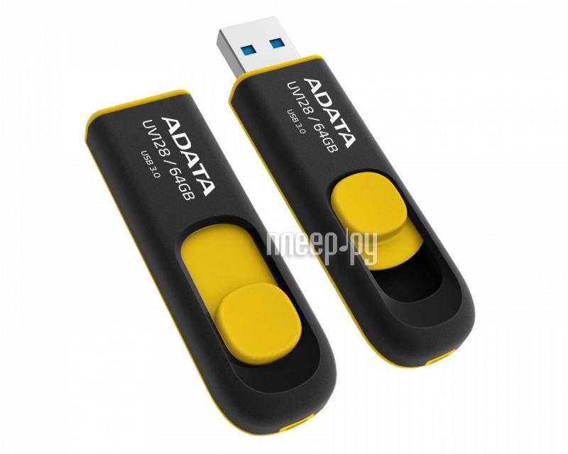 USB Flash Drive 64Gb - A-Data DashDrive UV128 USB 3.0 AUV128-64G-RBY