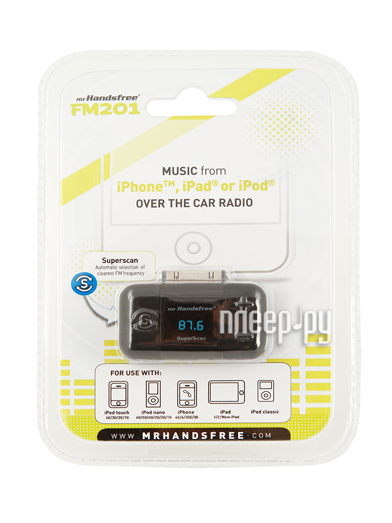FM-Трансмиттер Mr Handsfree FM201  Pleer.ru  1541.000