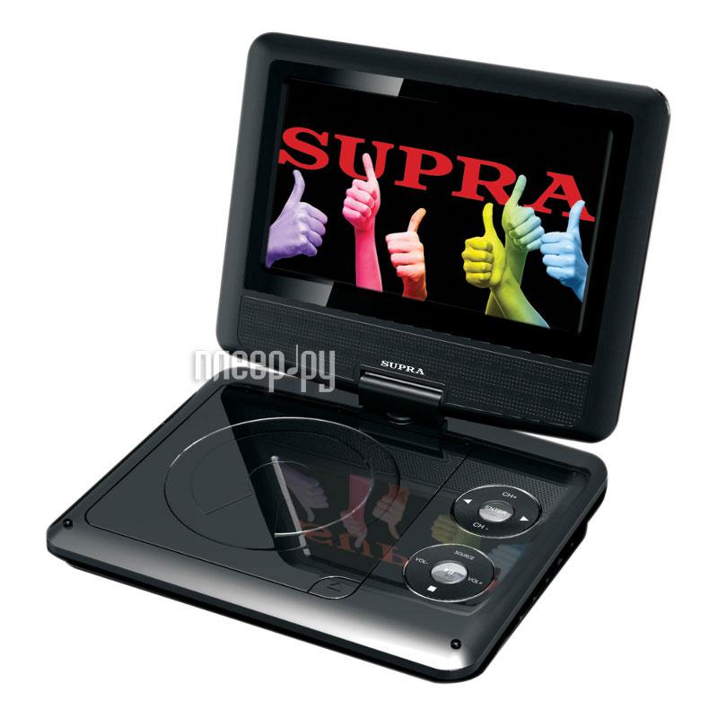 Портативный DVD плеер Supra SDTV-716UT черный.