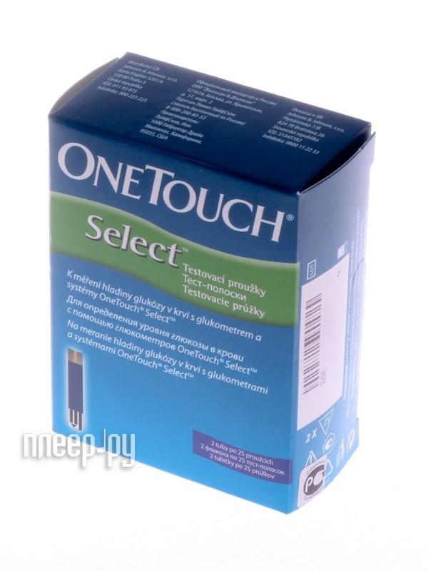 Аксессуар OneTouch Select 50шт тест-полоски  Pleer.ru  848.000