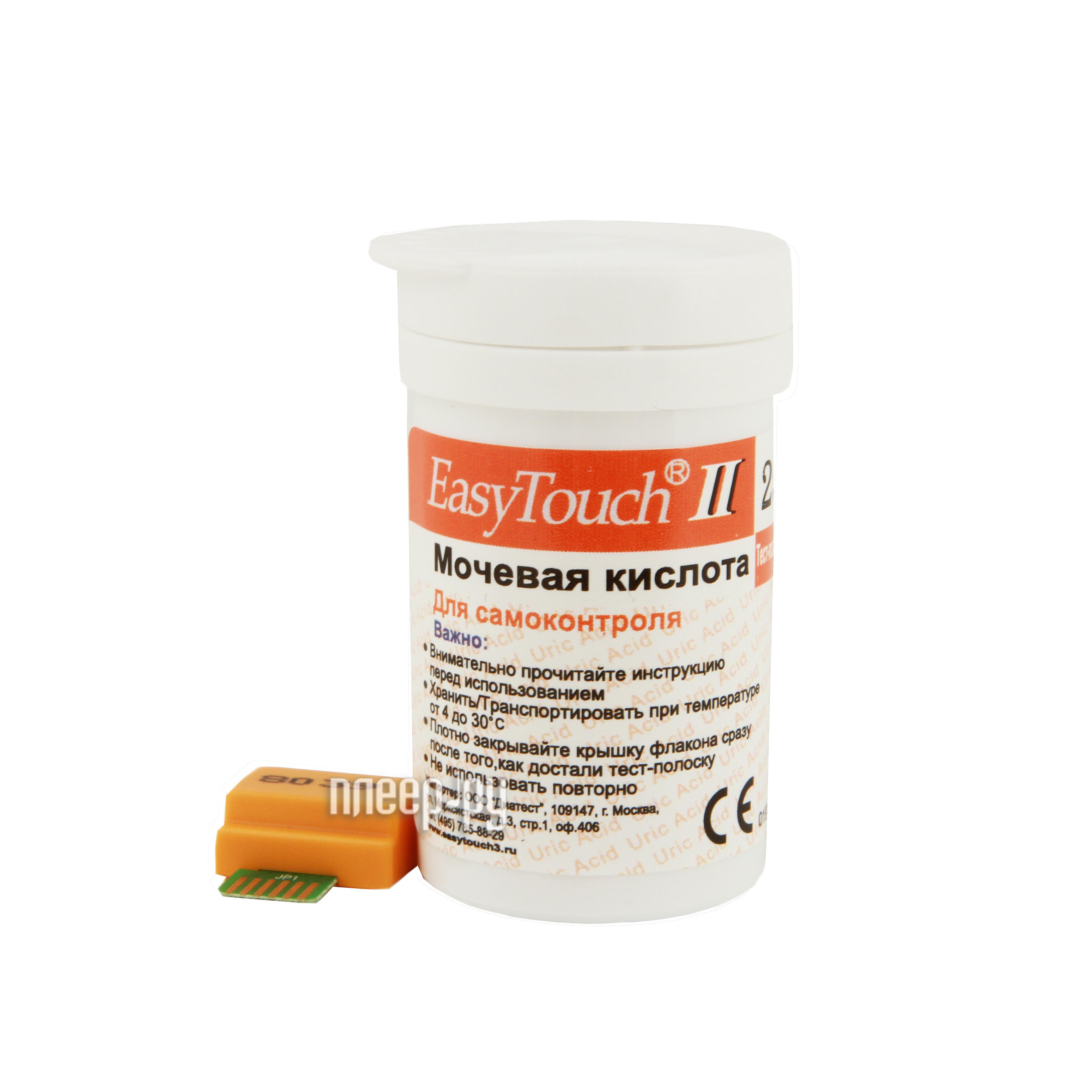 Аксессуар EasyTouch 25шт тест-полоски на мочевую кислоту