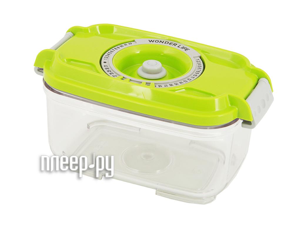 Пищевой вакуумный контейнер Wonder Life 0.5л Green  Pleer.ru  445.000