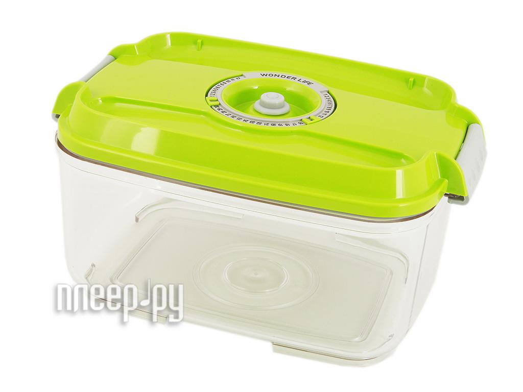 Пищевой вакуумный контейнер Wonder Life 2л Green  Pleer.ru  581.000