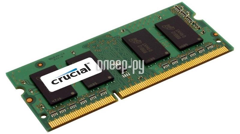 Модуль памяти Crucial PC3-12800 SO-DIMM DDR3L 1600MHz - 4Gb CT51264BF160BJ