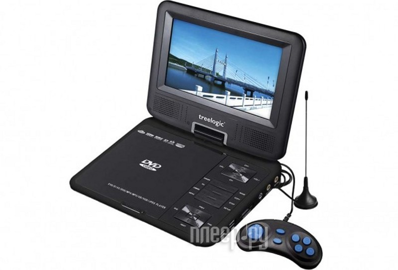 DVD плеер Treelogic TL-PDVD 704TV  Pleer.ru  1854.000