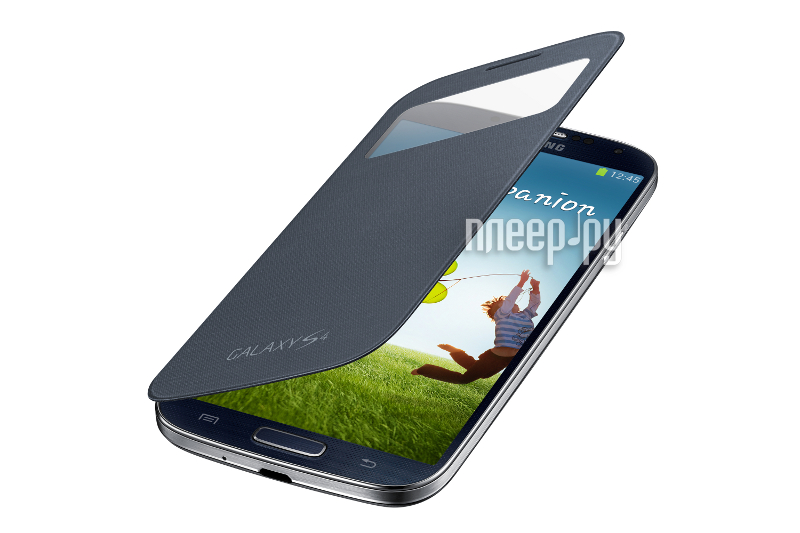 Аксессуар Чехол Samsung GT-i9500 / GT-i9505 Galaxy S4 S-View EF-CI950BBEGRU Black  Pleer.ru  1121.000