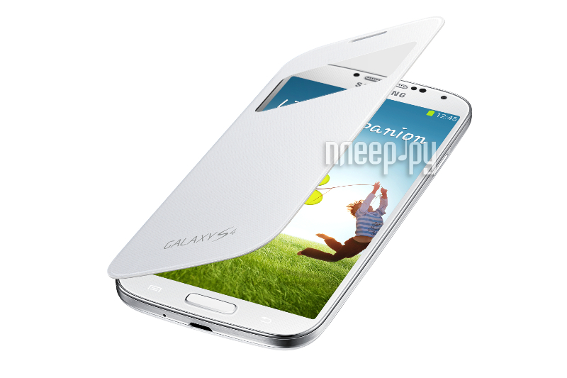 Аксессуар Чехол Samsung GT-i9500 / GT-i9505 Galaxy S4 S-View EF-CI950BWEGRU White  Pleer.ru  1121.000
