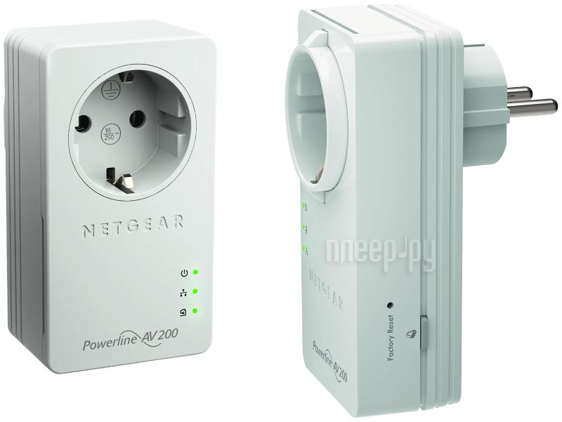 Powerline адаптер Netgear XAVB2602-100PES Powerline AV200  Pleer.ru  3732.000
