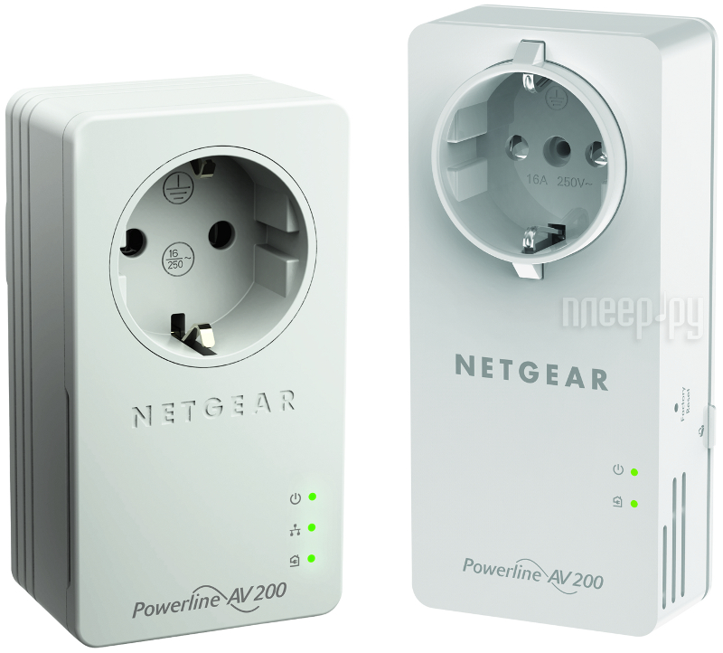 Powerline адаптер Netgear XAUB2511-100PES Powerline AV200  Pleer.ru  3175.000