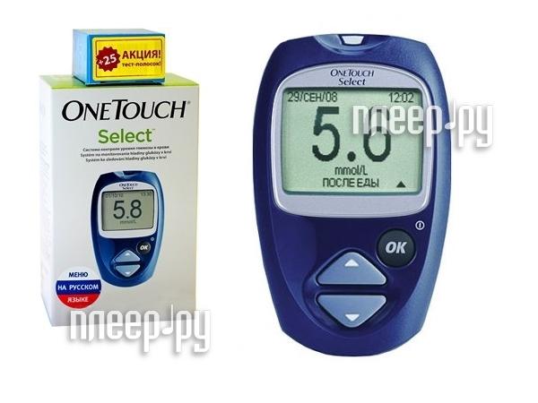 Глюкометр OneTouch Select + 25 тест-полосок  Pleer.ru  783.000