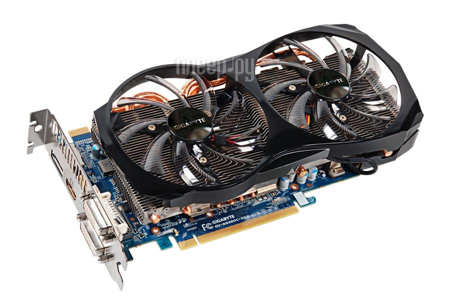 Видеокарта Gigabyte GeForce GTX 660 1033Mhz PCI-E 3.0 2048Mb 6008Mhz 192 bit 2xDVI HDMI HDCP GV-N660OC-2GD  Pleer.ru  6724.000