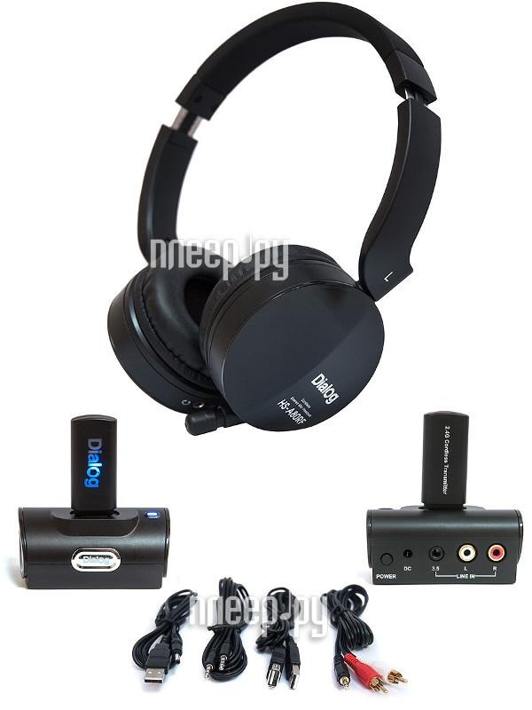 Гарнитура Dialog Aria HS-A80RF Black  Pleer.ru  1875.000