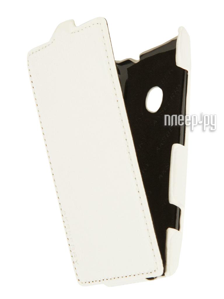 Аксессуар Чехол Nokia 520/525 Lumia Aksberry White  Pleer.ru  996.000