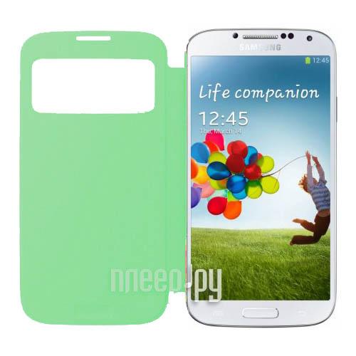 Аксессуар Чехол Samsung GT-i9500 / GT-i9505 Galaxy S4 S-View EF-CI950BGEGRU Green  Pleer.ru  1121.000