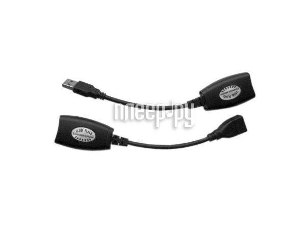Аксессуар Espada USB M to RJ45 F, RJ45 F to USB F c усилителем сигнала до 30м по витой паре EUSBExt30mVitP  Pleer.ru  639.000