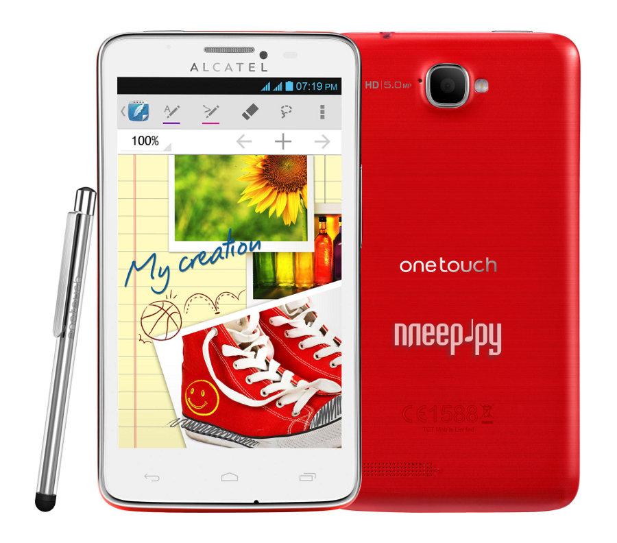 Сотовый телефон Alcatel OneTouch 8000D Scribe Red  Pleer.ru  5258.000