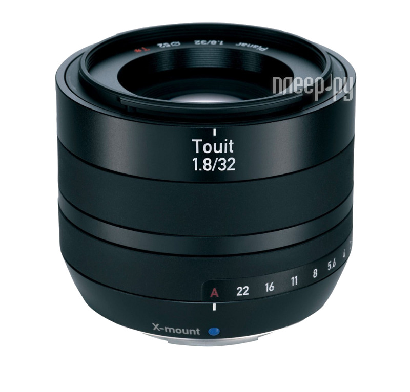 Объектив Carl Zeiss 32 mm F/1.8 Touit Distagon T* for FujiFilm X Mount  Pleer.ru  31861.000