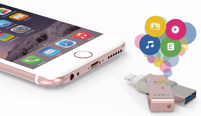 PQI USB to Lightning для iPhone/iPod AC1011 Blue PQI-iSTANDCHARGE-BL