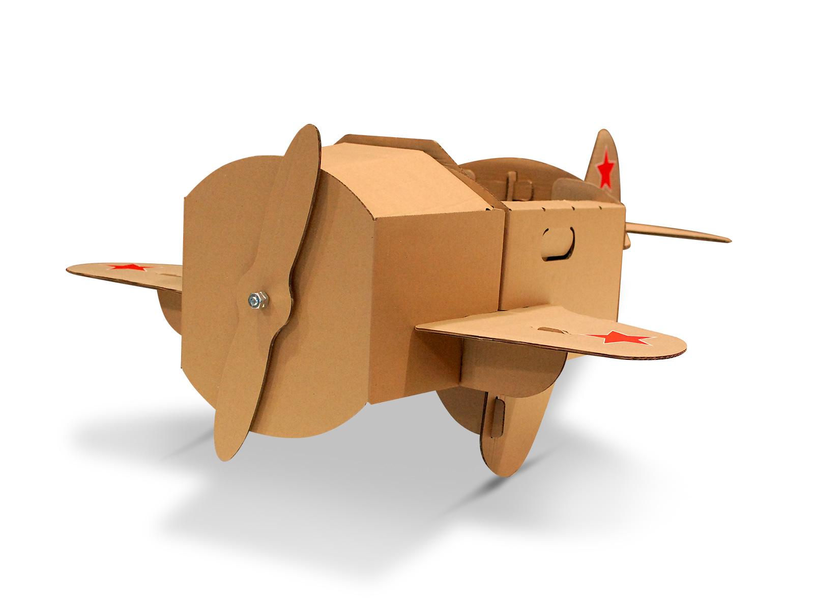 Самолет из картонной коробки своими руками