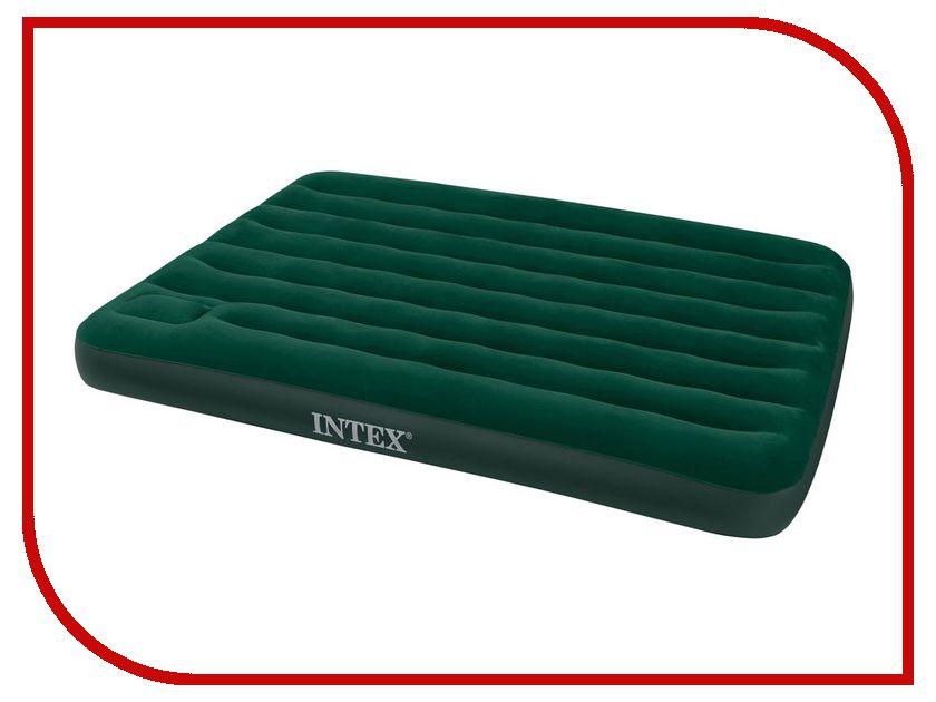 Купить Надувной матрас Intex Full Downy Bed 137x191x22cm + насос 66928
