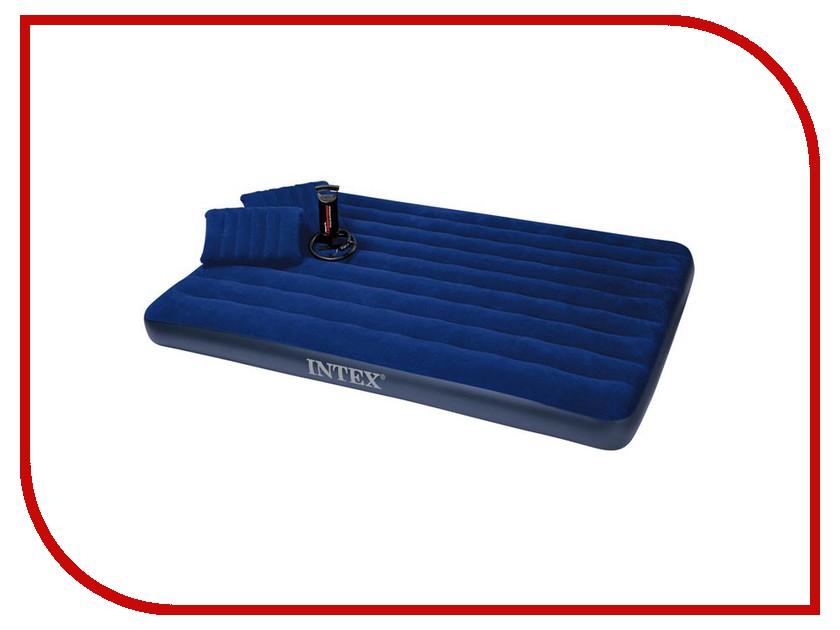 Купить Надувной матрас Intex Classic 152x203x22cm + 2 подушки + насос 68765