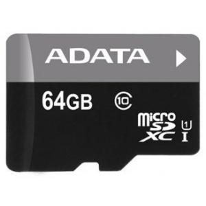 Zakazat.ru: Карта памяти 64Gb - A-Data Premier - Micro Secure Digital XC Class 10 UHS-I U1 AUSDX64GUICL10-R