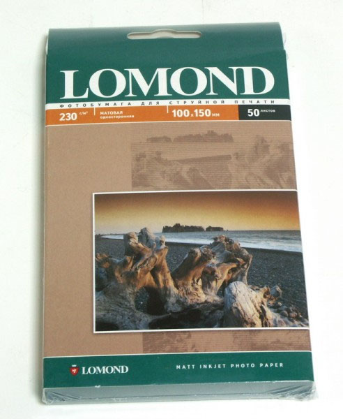 Фотобумага Lomond A4 230g/m2 матовая одностороняя 102016