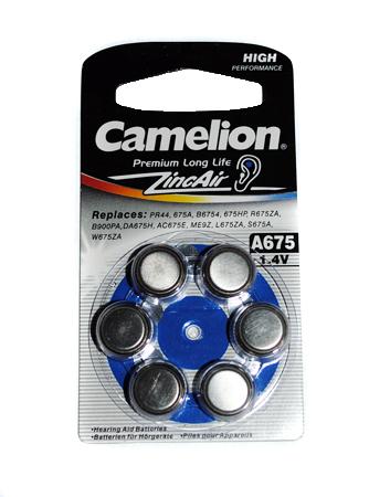 Батарейки Camelion ZA675 BL-6 / A675-BP6 1.4V 620mAh