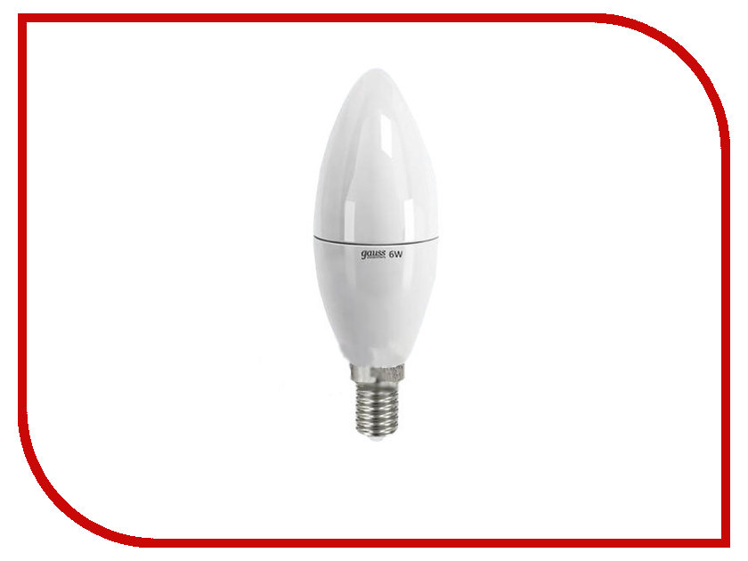 Купить Лампочка Gauss Elementary E14 6W 220V 3000K 33116, LD33116