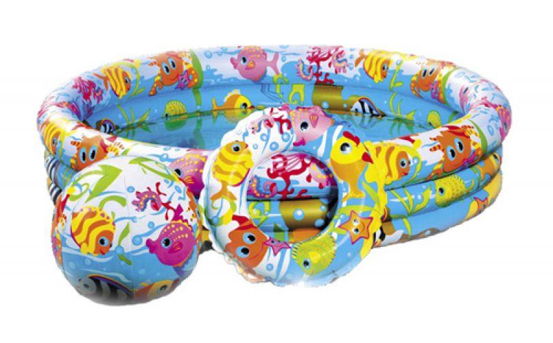Детский бассейн Intex Подводный мир 132х28cm 59469
