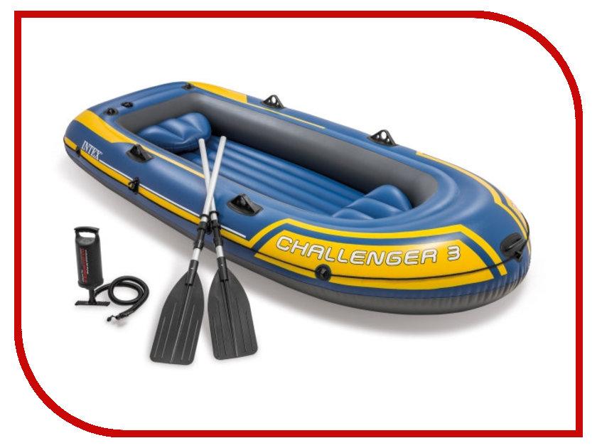 Купить Лодка Intex Challenger-3 Set 68370