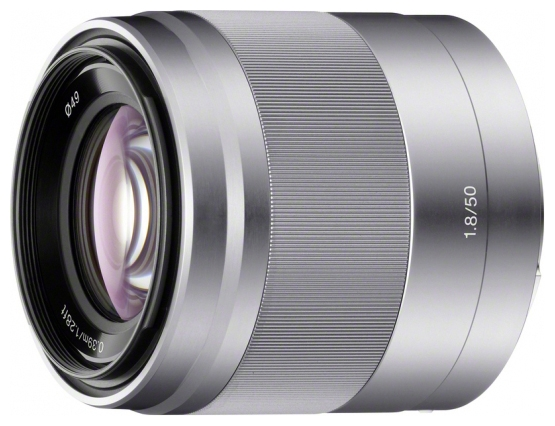 Фото - Объектив Sony SEL-50F18 50 mm F/1.8 OSS E for NEX Silver объектив sony full frame sel fe 35 mm f1 8
