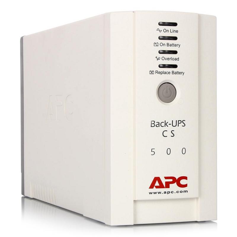 Источник бесперебойного питания APC Back-UPS CS 500VA 300W BK500EI