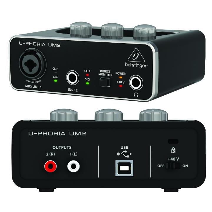 Аудиоинтерфейс BEHRINGER U-PHORIA UM2