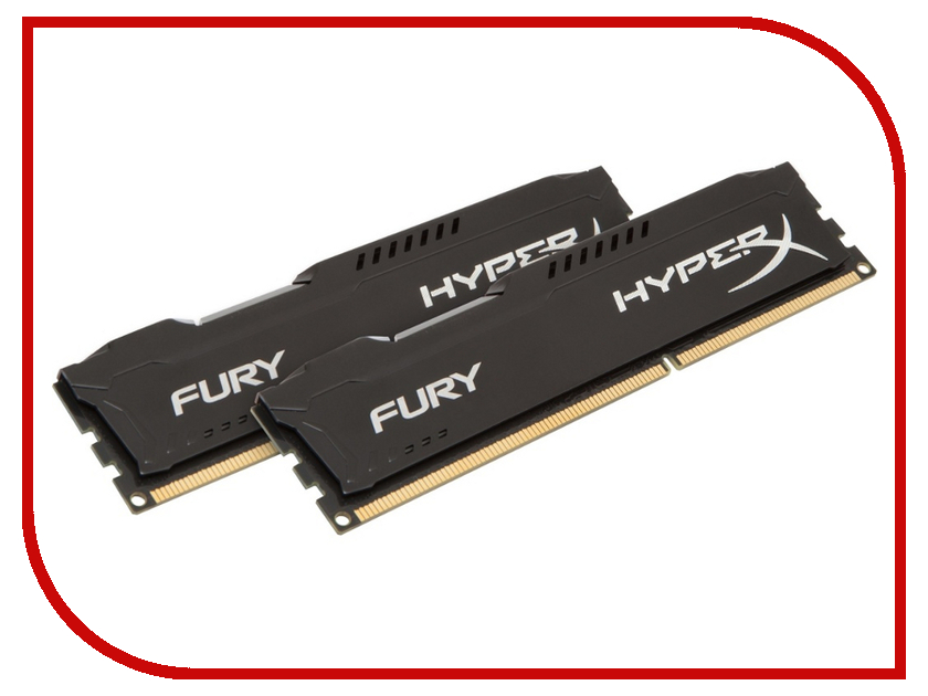 Модуль памяти Kingston HyperX Fury Black Series PC3-15000 DIMM DDR3 1866MHz CL10 - 16Gb KIT (2x8Gb) HX318C10FBK2/16  - купить со скидкой